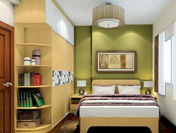 江南绿野卧室衣柜板材案例