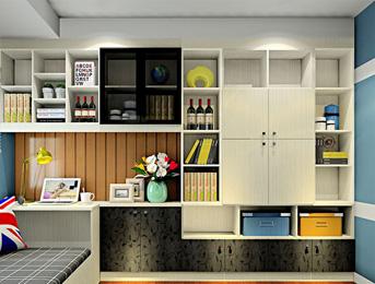 江南绿野书房书柜板材案例