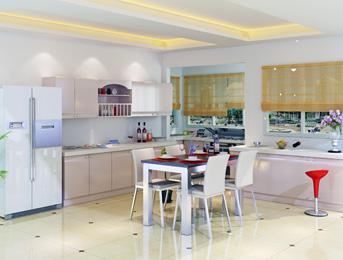 江南绿野厨房板材案例